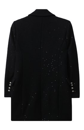 Детское шерстяное пальто BALMAIN синего цвета, арт. 6N2030/NB160/4-10 | Фото 2