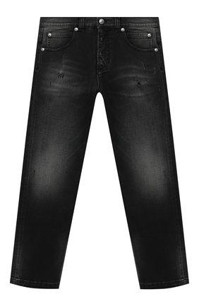 Детские джинсы BALMAIN черного цвета, арт. 6N6680/NA340/4-10 | Фото 1
