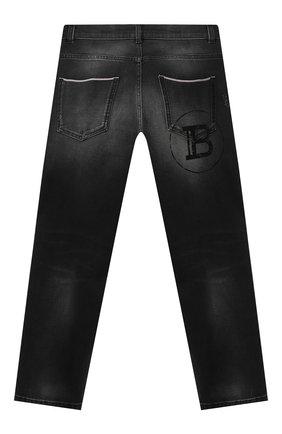Детские джинсы BALMAIN черного цвета, арт. 6N6680/NA340/4-10 | Фото 2