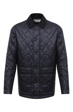 Мужская утепленная куртка Z ZEGNA темно-синего цвета, арт. VV089/ZZ061 | Фото 1 (Материал подклада: Синтетический материал; Рукава: Длинные; Материал внешний: Синтетический материал; Стили: Кэжуэл, Классический; Кросс-КТ: Куртка; Мужское Кросс-КТ: утепленные куртки; Длина (верхняя одежда): До середины бедра)