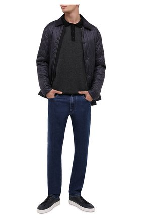 Мужская утепленная куртка Z ZEGNA темно-синего цвета, арт. VV089/ZZ061 | Фото 2 (Материал подклада: Синтетический материал; Рукава: Длинные; Материал внешний: Синтетический материал; Стили: Кэжуэл, Классический; Кросс-КТ: Куртка; Мужское Кросс-КТ: утепленные куртки; Длина (верхняя одежда): До середины бедра)