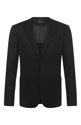 Мужской шерстяной пиджак Z ZEGNA черного цвета, арт. 877750/1V9SG0 | Фото 1