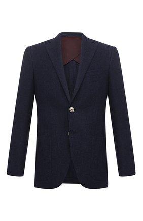 Мужской пиджак из шерсти и кашемира LUCIANO BARBERA темно-синего цвета, арт. 111F25MET/15093 | Фото 1