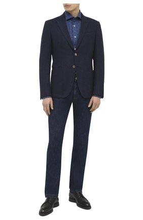 Мужской пиджак из шерсти и кашемира LUCIANO BARBERA темно-синего цвета, арт. 111F25MET/15093 | Фото 2