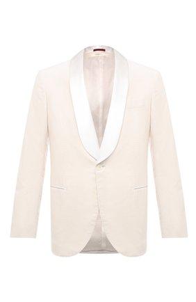Мужской хлопковый пиджак BRUNELLO CUCINELLI белого цвета, арт. ML463GS04 | Фото 1