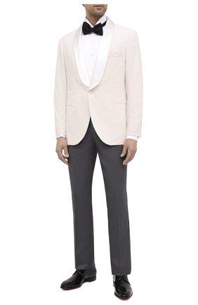 Мужской хлопковый пиджак BRUNELLO CUCINELLI белого цвета, арт. ML463GS04 | Фото 2