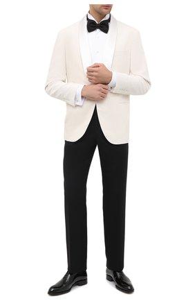 Мужские кожаные оксфорды BRIONI черного цвета, арт. QEF80L/09707 | Фото 2