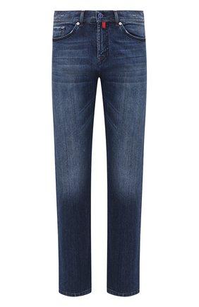 Мужские джинсы KITON темно-синего цвета, арт. UPNJS1/J02T60 | Фото 1