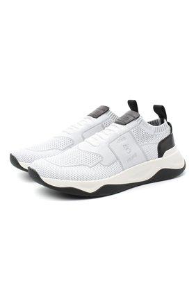 Мужские текстильные кроссовки BERLUTI белого цвета, арт. S4918-002 | Фото 1
