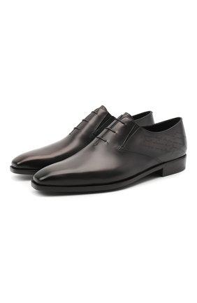 Мужские кожаные оксфорды BERLUTI темно-серого цвета, арт. S5136-002 | Фото 1