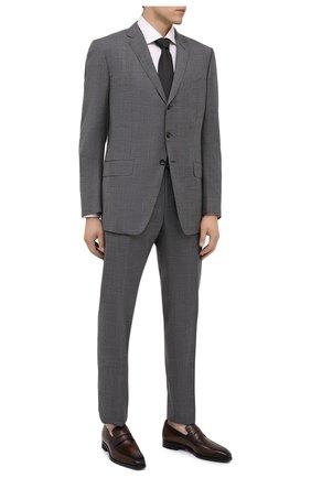 Мужские кожаные пенни-лоферы BERLUTI темно-коричневого цвета, арт. S5235-001 | Фото 2 (Материал внутренний: Натуральная кожа; Стили: Классический)