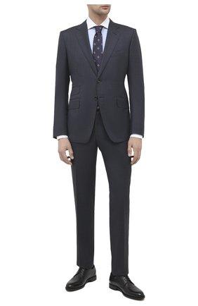 Мужской кожаные дерби meddow BALLY черного цвета, арт. MEDD0W/00   Фото 2