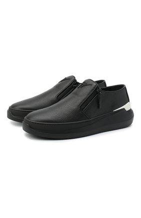 Мужские кожаные слипоны conley zip GIUSEPPE ZANOTTI DESIGN черного цвета, арт. EU00063/004 | Фото 1