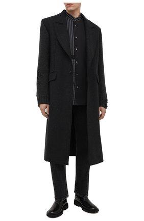 Мужской шерстяное пальто ISABEL BENENATO темно-серого цвета, арт. UW01F20 | Фото 2