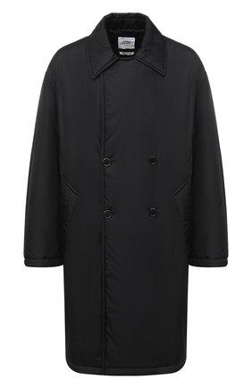 Мужская утепленное пальто OPENING CEREMONY черного цвета, арт. YMED001F20FAB001   Фото 1