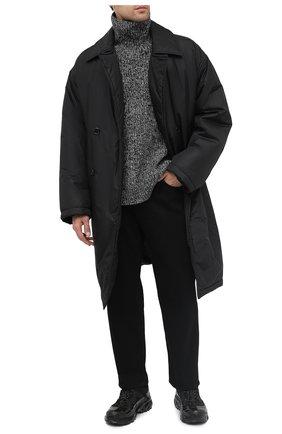 Мужская утепленное пальто OPENING CEREMONY черного цвета, арт. YMED001F20FAB001   Фото 2