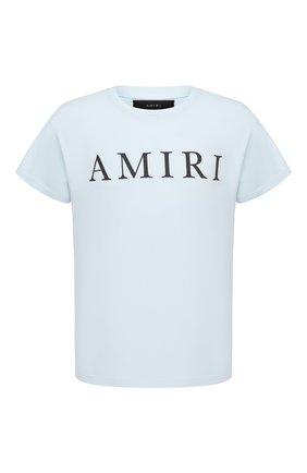 Мужская хлопковая футболка AMIRI голубого цвета, арт. F0M03236CJ | Фото 1