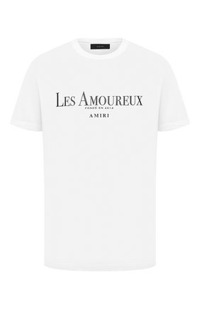 Мужская хлопковая футболка AMIRI белого цвета, арт. F0M03238CJ | Фото 1