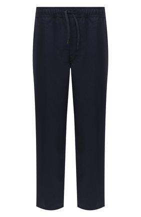 Мужской льняные брюки DEREK ROSE синего цвета, арт. 9800-SYDN002 | Фото 1