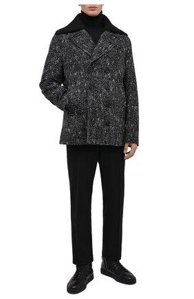 Мужские кожаные кеды SANTONI черного цвета, арт. MBGL20870NE0PSSSN01 | Фото 2