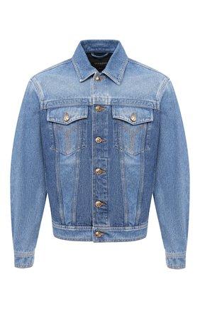 Мужская джинсовая куртка VERSACE синего цвета, арт. A87374/A235957 | Фото 1