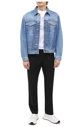 Мужская джинсовая куртка VERSACE синего цвета, арт. A87374/A235957 | Фото 2