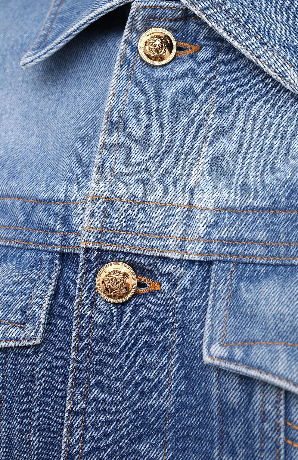 Мужская джинсовая куртка VERSACE синего цвета, арт. A87374/A235957 | Фото 5