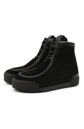 Мужские замшевые ботинки VIC MATIE черного цвета, арт. 1Y5509U.V02C7FB001 | Фото 1