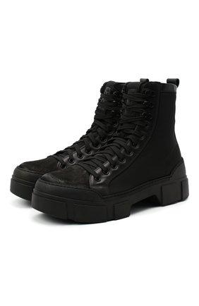 Мужские комбинированные ботинки VIC MATIE черного цвета, арт. 1Y5552U.V06TYST001 | Фото 1
