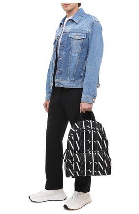 Мужской текстильный рюкзак valentino garavani VALENTINO черно-белого цвета, арт. UY0B0993/HWP | Фото 2