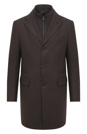 Мужской шерстяное пальто CORNELIANI коричневого цвета, арт. 861590-0812400/00 | Фото 1