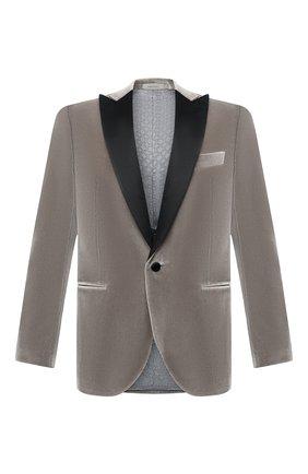 Мужской хлопковый пиджак CORNELIANI серого цвета, арт. 866210-0818113/00 | Фото 1