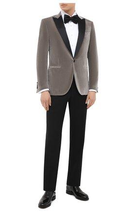 Мужской хлопковый пиджак CORNELIANI серого цвета, арт. 866210-0818113/00 | Фото 2