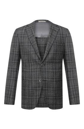 Мужской пиджак из шерсти и кашемира CORNELIANI темно-серого цвета, арт. 86XY76-0816260/90   Фото 1