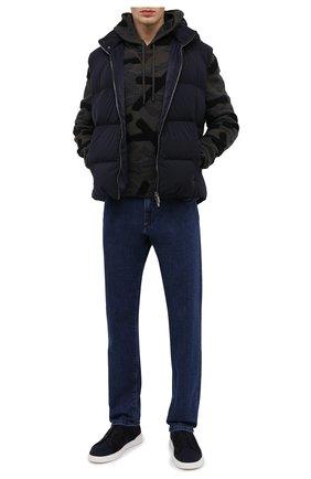 Мужские комбинированные кеды ZEGNA COUTURE темно-синего цвета, арт. A4666X-LHFLA | Фото 2