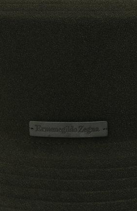 Мужская шерстяная панама ERMENEGILDO ZEGNA темно-зеленого цвета, арт. Z8I11/B8D | Фото 3