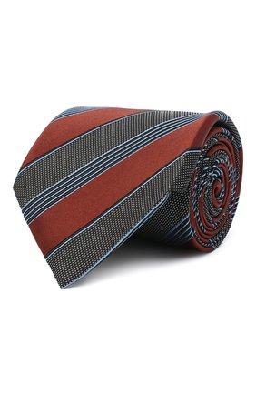 Мужской шелковый галстук ERMENEGILDO ZEGNA коричневого цвета, арт. Z8D74/1UM | Фото 1