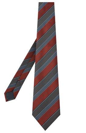 Мужской шелковый галстук ERMENEGILDO ZEGNA коричневого цвета, арт. Z8D74/1UM | Фото 2