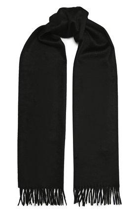 Мужской кашемировый шарф ERMENEGILDO ZEGNA черного цвета, арт. Z8L40/26N | Фото 1