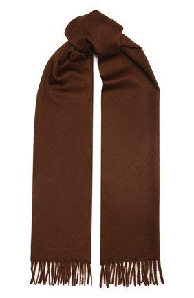 Мужской кашемировый шарф ERMENEGILDO ZEGNA коричневого цвета, арт. Z8L40/26N | Фото 1