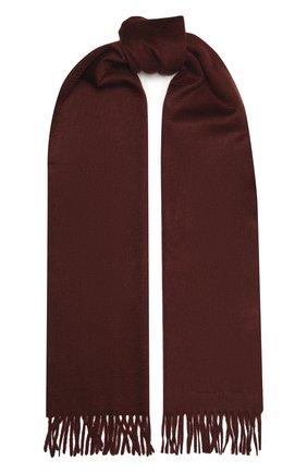 Мужской кашемировый шарф ERMENEGILDO ZEGNA бордового цвета, арт. Z8L40/26N | Фото 1