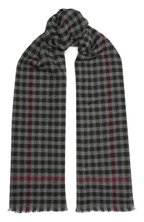 Мужской шарф из шерсти и кашемира ERMENEGILDO ZEGNA серого цвета, арт. Z8L05/28B | Фото 1