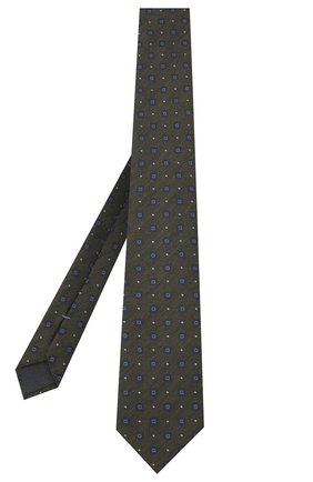 Мужской галстук из шелка и шерсти ERMENEGILDO ZEGNA хаки цвета, арт. Z8E30/18H | Фото 2