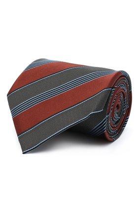 Мужской шелковый галстук ERMENEGILDO ZEGNA коричневого цвета, арт. Z8D74/1XW | Фото 1