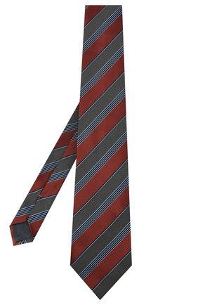 Мужской шелковый галстук ERMENEGILDO ZEGNA коричневого цвета, арт. Z8D74/1XW | Фото 2