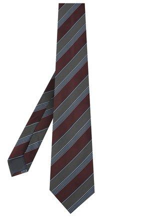 Мужской шелковый галстук ERMENEGILDO ZEGNA коричневого цвета, арт. Z8D73/1XW | Фото 2