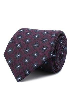 Мужской галстук из шелка и шерсти ERMENEGILDO ZEGNA фиолетового цвета, арт. Z8E31/18H | Фото 1