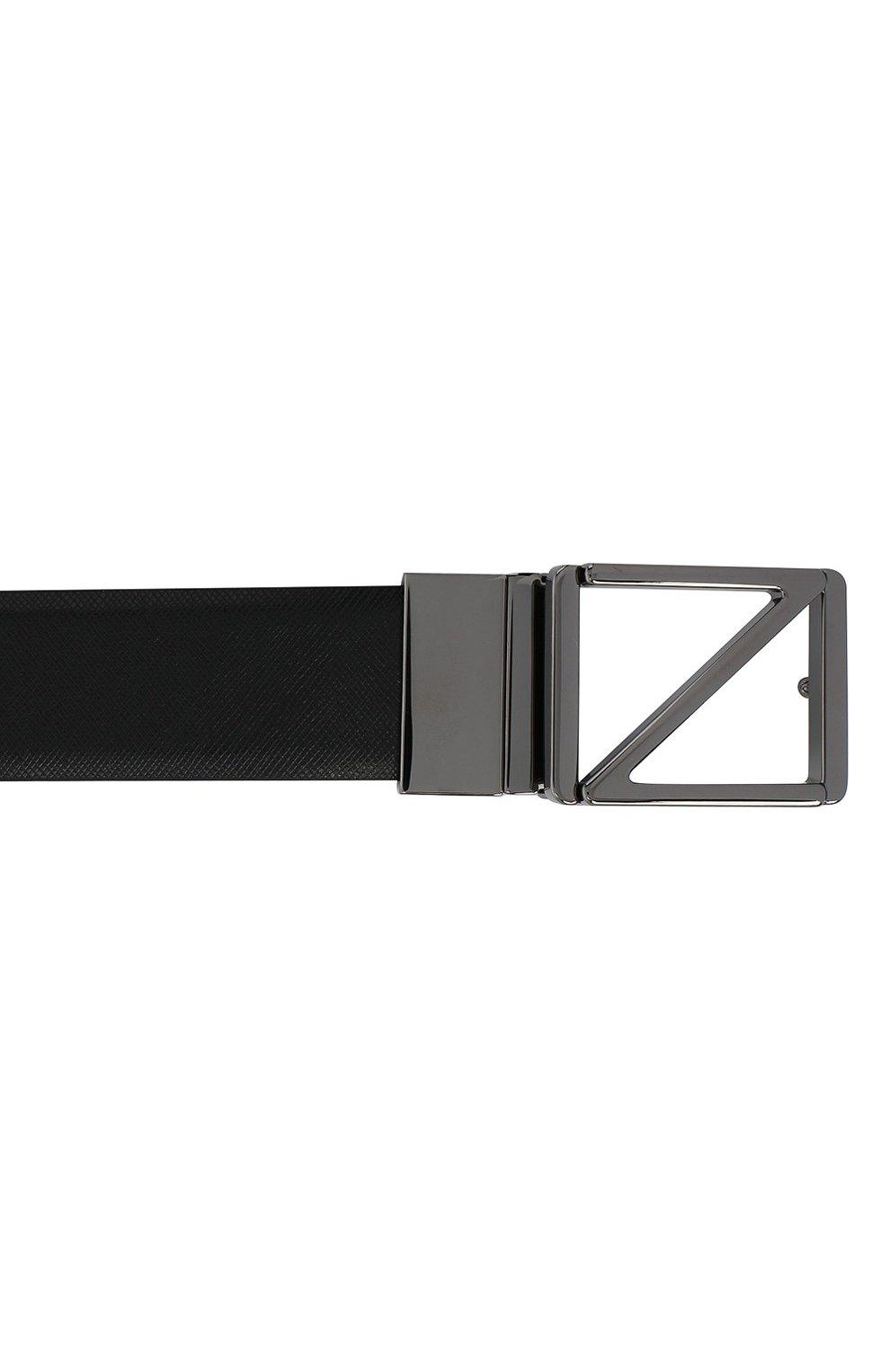 Мужской кожаный ремень Z ZEGNA черного цвета, арт. BSFNA5/603B | Фото 3