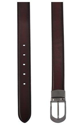 Мужской кожаный ремень ERMENEGILDO ZEGNA бордового цвета, арт. B1NY3G/J0805B | Фото 2