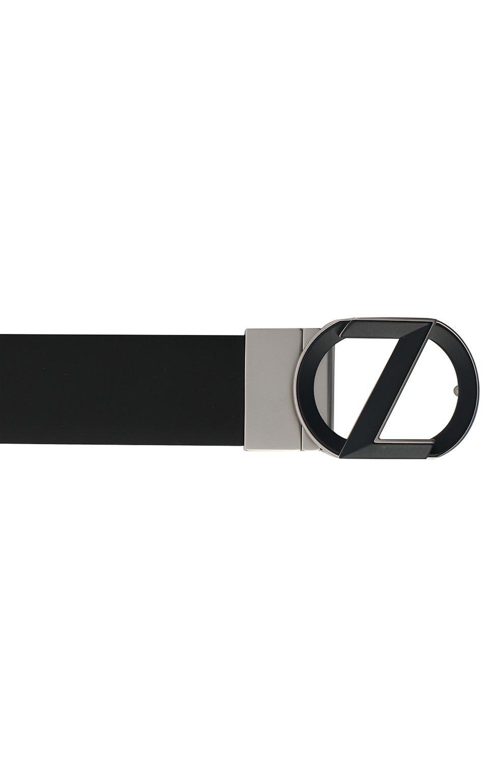 Мужской кожаный ремень Z ZEGNA темно-синего цвета, арт. B1HC1A/J1229D | Фото 3